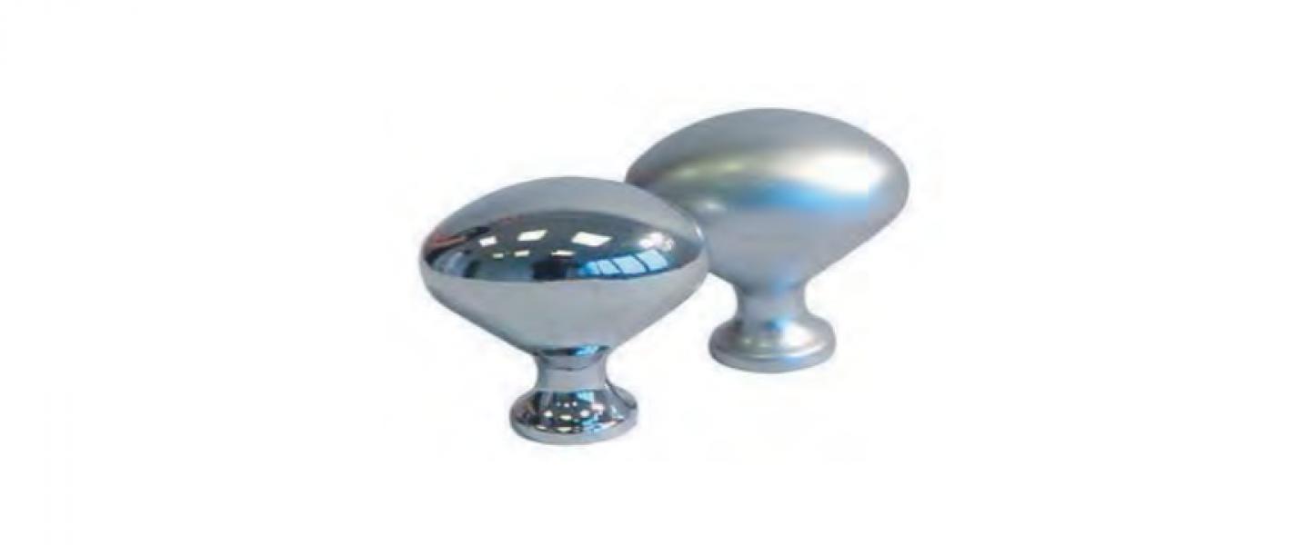 Ručkica metalna - ovalni gumb 35mm